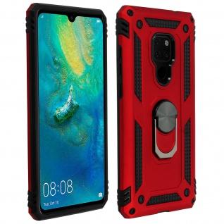 Hybrid Handyhülle mit Ring Halterung für Huawei Mate 20 - Rot