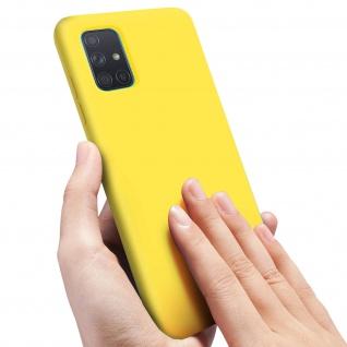Halbsteife Silikon Handyhülle Samsung Galaxy A51, Soft Touch - Gelb - Vorschau 5