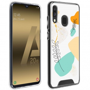 Stoßfeste Handyhülle Samsung Galaxy A20e, Made in France ? Lorbeerblatt Design