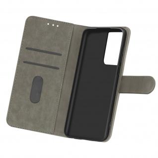 Flip Cover Geldbörse, Etui Kunstleder für Samsung Galaxy S21 Ultra ? Grau