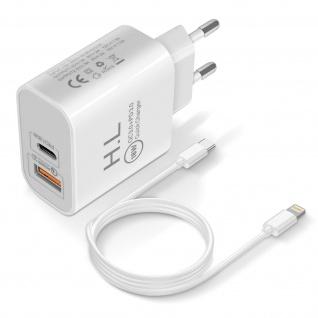 18W Power Delivery Q.C 3.0 Ladegerät + Lightning Kabel - Weiß