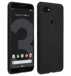 Schutzhülle für Google Pixel 3, ultradünne & gummierte Gelhülle - Schwarz