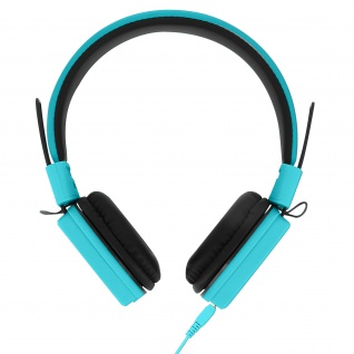 GJ-14 Blaue Klappbare Kabelgebundene Kopfhörer+3.5mm Klinkenkabel+Mikro Funktion