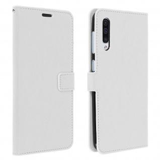 Flip Stand Cover Brieftasche & Standfunktion für Samsung Galaxy A50 - Weiß