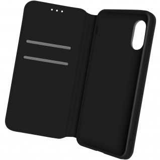 Kunstleder Cover Classic Edition, Klappetui für Samsung Xcover 5 ? Schwarz
