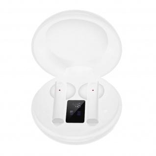 Bluetooth Wireless Kopfhörer, 12 Std. Akkulaufzeit, LED-Anzeige - Weiß