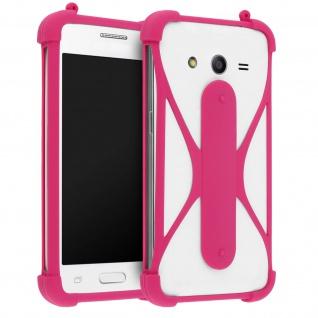 Universal Silikon Schutzhülle Muvit Life für Smartphones - Standfunktion - Rosa