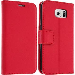Flip-Schutzhülle mit Standfunktion für Samsung Galaxy S6 - Rot