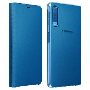 Samsung Wallet Cover für Samsung Galaxy A7 2018, Original Schutzhülle - Blau