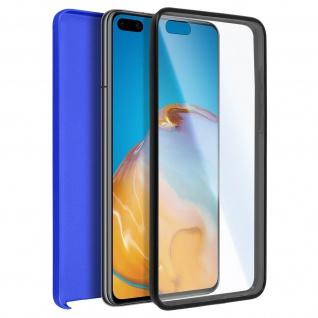 Schutzhülle für Huawei P40, Vorder- + Rückseite ? Blau