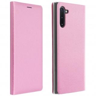 Flip Book Cover, Klappetui aus Kunstleder für Samsung Galaxy Note 10 - Rosa