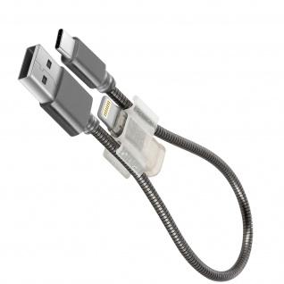 LinQ USB-C Kabel mit Lightning Adapater 2A Lade-/Datenkabel - Grau