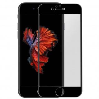 Premium Panzerglas Schutzfolie für Apple iPhone 6 Plus / 6S Plus - Rand Schwarz