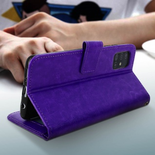 Flip Cover Stand Case Brieftasche & Standfunktion Samsung Galaxy A71 - Violett - Vorschau 4