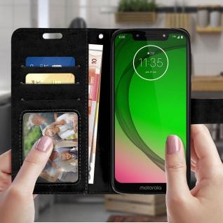 Flip Stand Cover Brieftasche & Standfunktion für Motorola Moto G7 Play - Schwarz - Vorschau 3