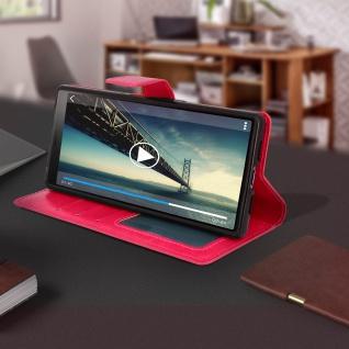 Flip Stand Cover Brieftasche & Standfunktion für Sony Xperia 10 - Rosa - Vorschau 4