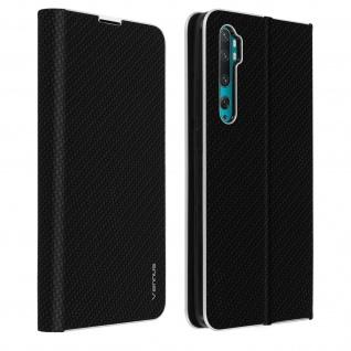 Klappetui Xiaomi Mi Note 10 / Mi Note 10 Pro, Cover mit Carbon Design ? Schwarz