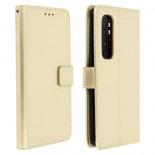 Flip Stand Case Brieftasche & Standfunktion für Xiaomi Mi Note 10 Lite ? Gold