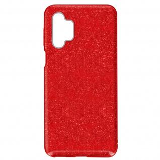 Schutzhülle, Glitter Case für Samsung Galaxy A32 â€? Rot