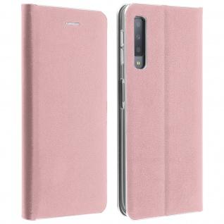 Samsung Galaxy A7 2018 Flip Cover mit Kartenschlitz & Standfunktion - Rosa