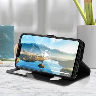 Huawei P Smart Plus Flip Cover mit Doppelfenster & Standfunktion - Schwarz - Vorschau 5