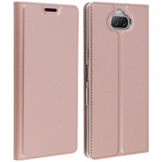 Klappetui mit Kartenfach & Standfunktion Sony Xperia 10 Dux Ducis Rosegold