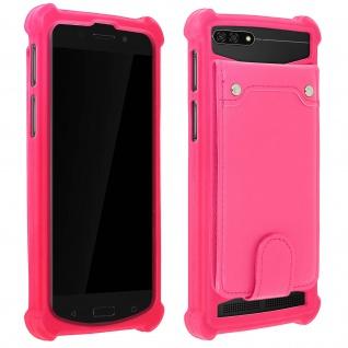Schockabsorbierende Hülle für Smartphones zwischen 3.8'' und 4.3'' - Rosa