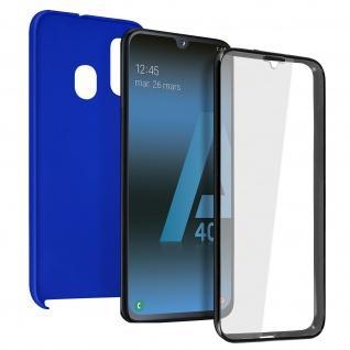 Schutzhülle für Samsung Galaxy A40, Vorder- + Rückseite ? Blau