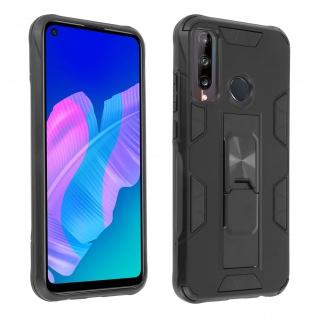 Huawei P40 Lite E Handyhülle mit Ständer, Defender Series ? Schwarz