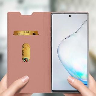 Klappetui mit Kartenfach & Standfunktion Samsung Galaxy Note 10 - Rosegold - Vorschau 4