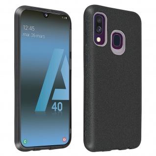 Schutzhülle, Glitter Case für Samsung Galaxy A40, shiny & girly Hülle - Schwarz