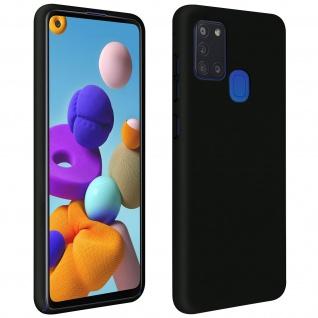 Halbsteife Silikon Handyhülle Samsung Galaxy A21s, Soft Touch - Schwarz