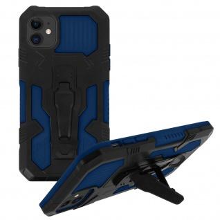 Stoßfeste Handyhülle Apple iPhone 11, mit Gürtelclip und Ständer ? Blau - Vorschau 2