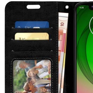 Flip Stand Cover Brieftasche & Standfunktion für Motorola Moto G7 Play - Schwarz - Vorschau 5