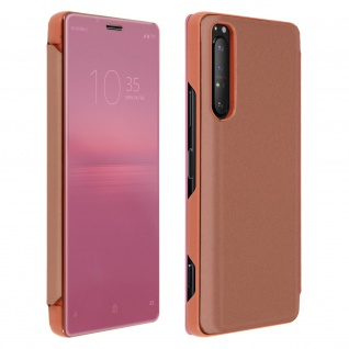 Sony Xperia 1 II View Cover mit Spiegeleffekt & Standfunktion - Rosegold