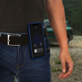 Stoßfeste Handyhülle Apple iPhone 11, mit Gürtelclip und Ständer ? Blau - Vorschau 5
