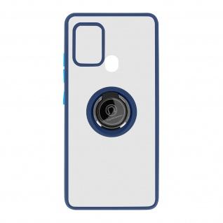 Hybrid Handyhülle mit Ring-Halterung für Galaxy A21s ? Blau