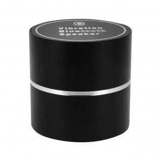 Kabelloser BT-Vibrationslautsprecher 360°-Klang Ultra-kompakt, leicht Schwarz