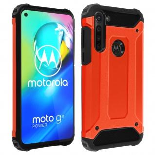 Defender II schockresistente Schutzhülle Motorola Moto G8 Power - Rot