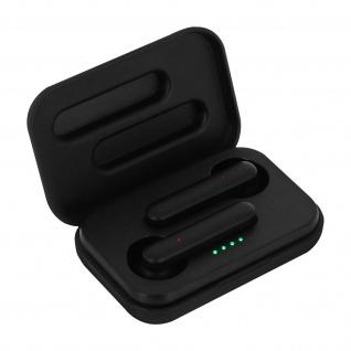 Schwarze Akashi Bluetooth In-Ear Kopfhörer mit Ladecase und 3 Std Akkulaufzeit
