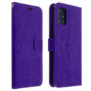 Flip Cover Stand Case Brieftasche & Standfunktion Samsung Galaxy A51 ? Violett