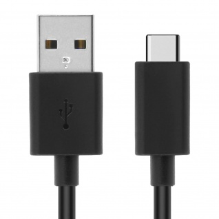 Original Sony USB-Typ C/ Micro-USB Kabel - Aufladen & Synchronisierung - Schwarz