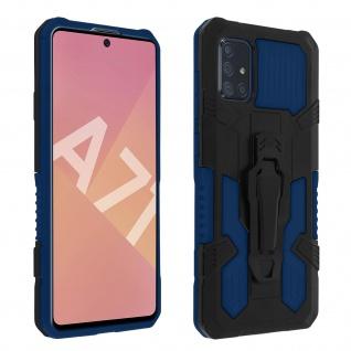 Stoßfeste Handyhülle Samsung Galaxy A71, mit Gürtelclip und Ständer ? Blau