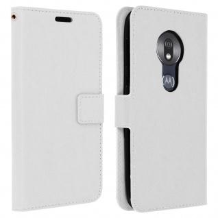 Flip Stand Cover Brieftasche & Standfunktion für Motorola Moto G7 Play - Weiß