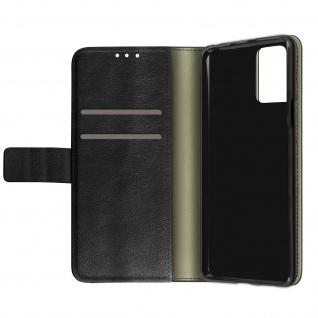LG K53 Kunstlederhülle mit Kartenfächern & Standfunktion ? Schwarz