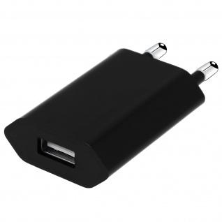 USB Wand Ladegerät 1A - Schwarz
