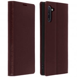 Business Leder Cover, Schutzhülle mit Geldbörse Galaxy Note 10 - Braun