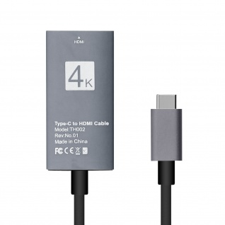 USB Typ-C auf HDMI 4K Adapter Kabel Kabellänge 15cm - Vorschau 2