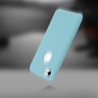 Apple iPhone 7, iPhone 8 stoßfeste Soft Touch Schutzhülle - Türkisblau - Vorschau 5