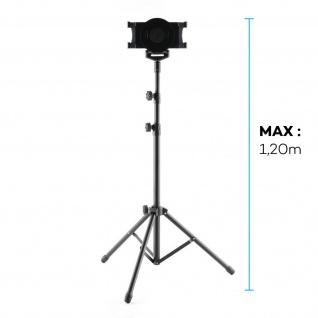 360° drehbares Stativ für 7 bis 10'' Tablets mit vertellbaren Füßen, 1, 20M Höhe